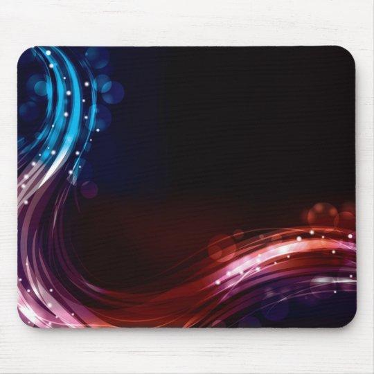 Abstract neon spectrum light effect mouse mat