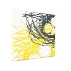 Abstract Nest in White, Grey and Yellow Canvas Print