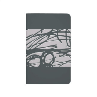 Abstract Nest Journal in Gray and Bright Yellow