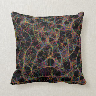 Abstract net pillow throw cushion