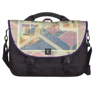 Abstract New York City Pastel Tones Times Square Bag For Laptop