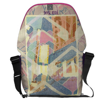 Abstract New York City Pastel Tones Times Square Courier Bag