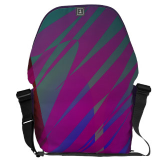 Abstract Night Storm Courier Bags