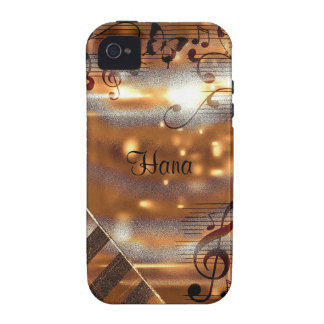 Abstract notes vibe iPhone 4 cover