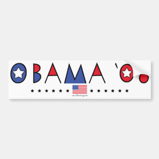 Abstract Obama 2008 Bumper Stickers
