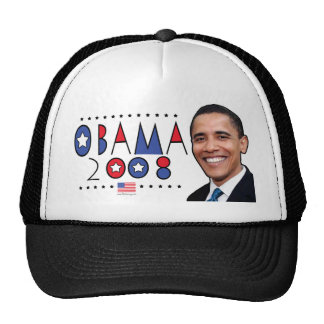 Abstract Obama Pic 2008 Cap