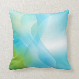 Abstract Ocean American MoJo Pillow Throw Cushions