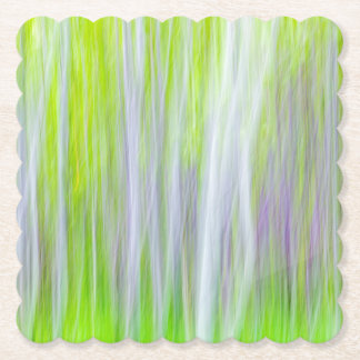 Abstract of Aspen Trees | Yakima River Trail, WA Paper Coaster
