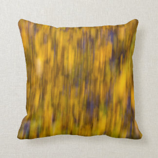 Abstract of Autumn Gold Throw Pillow