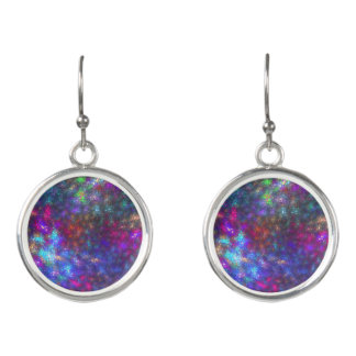 Abstract of color earrings