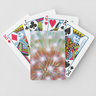Abstract of dandelion seed head bicycle playing cards