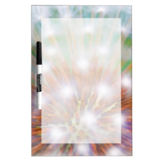 Abstract of dandelion seed head dry erase whiteboard