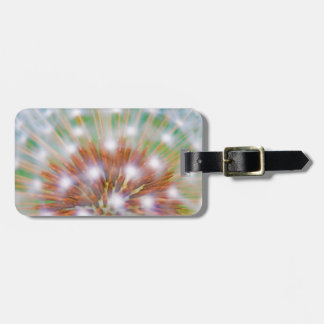 Abstract of dandelion seed head luggage tag