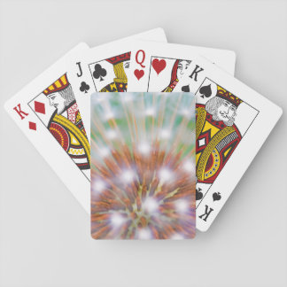 Abstract of dandelion seed head playing cards