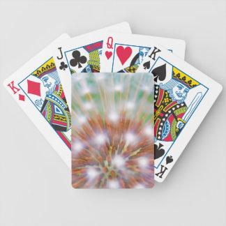 Abstract of dandelion seed head poker deck