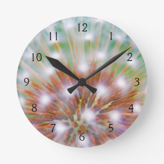 Abstract of dandelion seed head round clock
