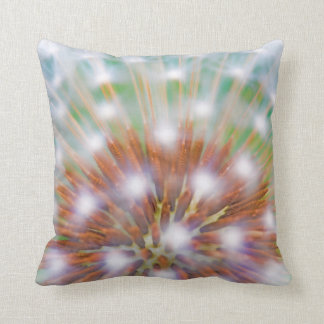 Abstract of dandelion seed head throw pillow