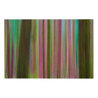 Abstract of Hoh Rain Forest at Dusk | Washington Wood Print