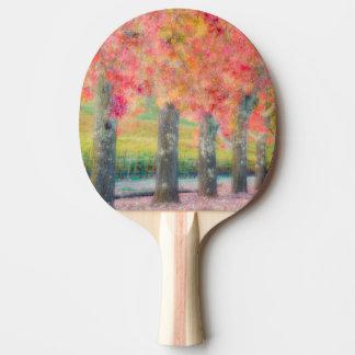 Abstract of Napa Valley trees Ping Pong Paddle
