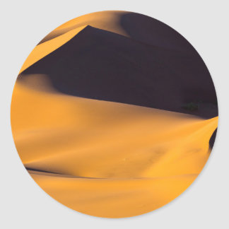 Abstract of sand dune classic round sticker