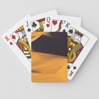 Abstract of sand dune playing cards