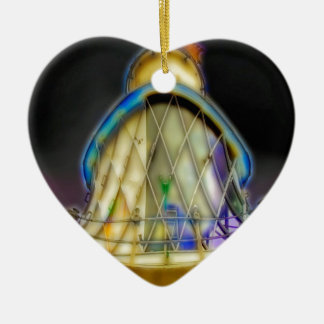 Abstract of Southwold Lighthouse Ceramic Heart Decoration