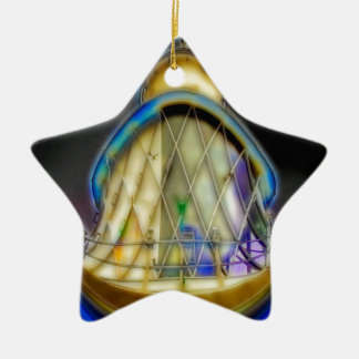 Abstract of Southwold Lighthouse Ceramic Star Decoration