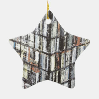 Abstract Office Building (abstract architecture) Ceramic Star Decoration