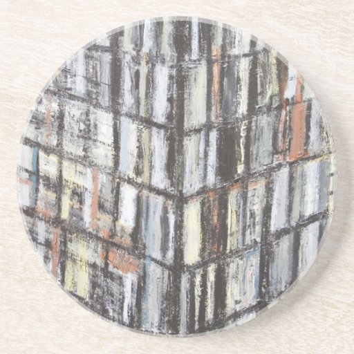 Abstract Office Building (abstract architecture) Beverage Coasters