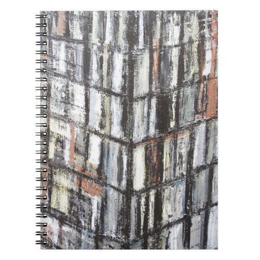Abstract Office Building (abstract architecture) Spiral Note Book