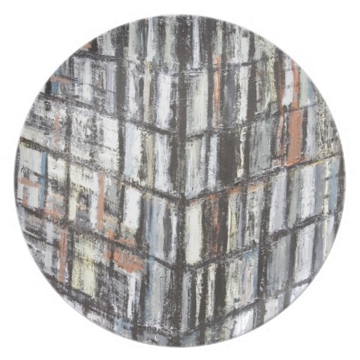 Abstract Office Building (abstract architecture) Dinner Plate