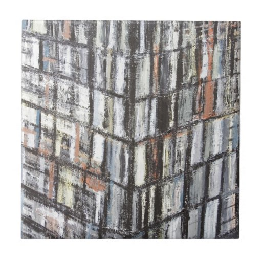 Abstract Office Building (abstract architecture) Ceramic Tiles