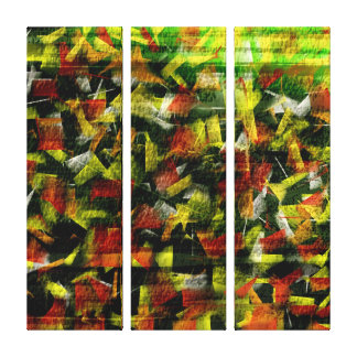 Abstract Oil & Acrylic Painting 3 Stretched Canvas Print
