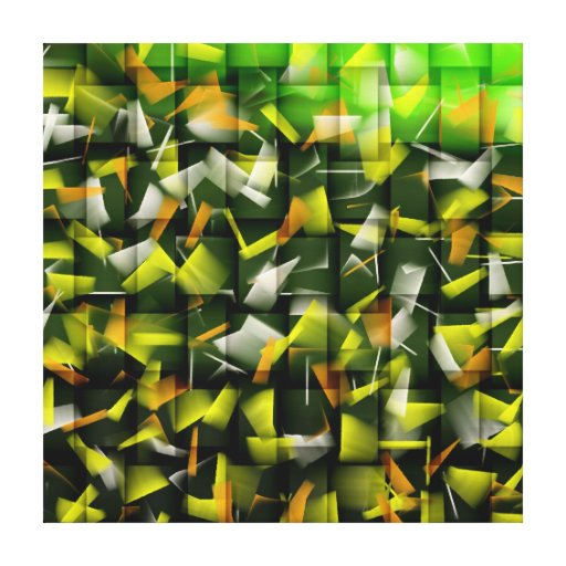Abstract Oil & Acrylic Painting 4 Stretched Canvas Print