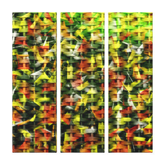 Abstract Oil & Acrylic Painting on Wicker 2 Canvas Print
