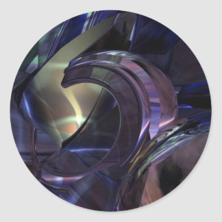 Abstract Oil Architecture Round Stickers