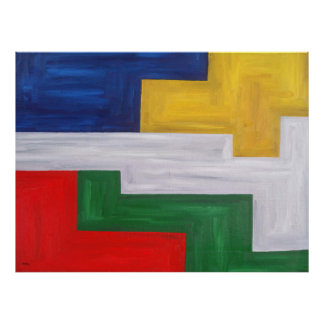 ABSTRACT OIL PAINTING 12 POSTER