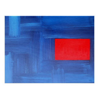 ABSTRACT OIL PAINTING 7 POSTER