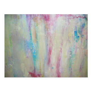 Abstract oil painting postcard