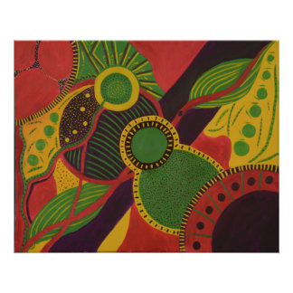 Abstract Oil Painting Poster