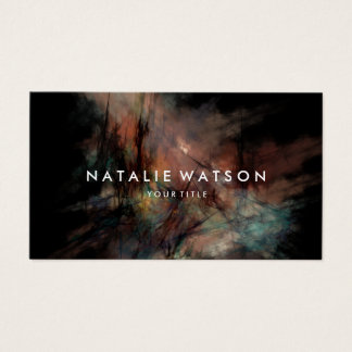 Abstract Oil Painting Professional Dark Business Card
