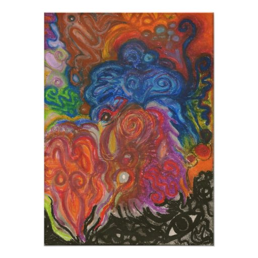 Abstract Oil Pastel Poster