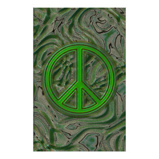 Abstract Oil Sand Peace Poster