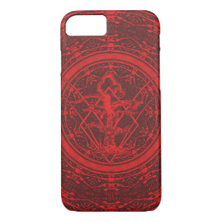 Abstract Old Withered Tree Red/Black iPhone 7 Case