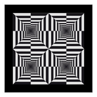 Abstract op art Poster