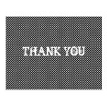 Abstract Optical Dots Thank You Postcards