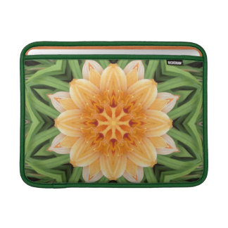 Abstract Orange and Green Kaleidoscope 13 Inch Sleeve For MacBook Air
