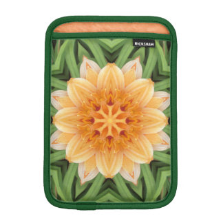 Abstract Orange and Green Kaleidoscope iPad Mini Sleeve