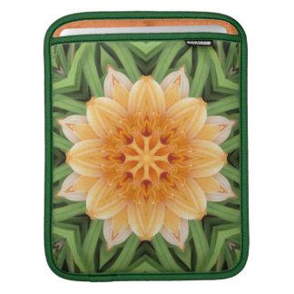 Abstract Orange and Green Kaleidoscope iPad Sleeve