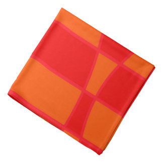 Abstract Orange And Red Background Bandana